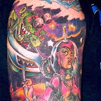 alien tattoo arm monster spaces - tattoo meanings