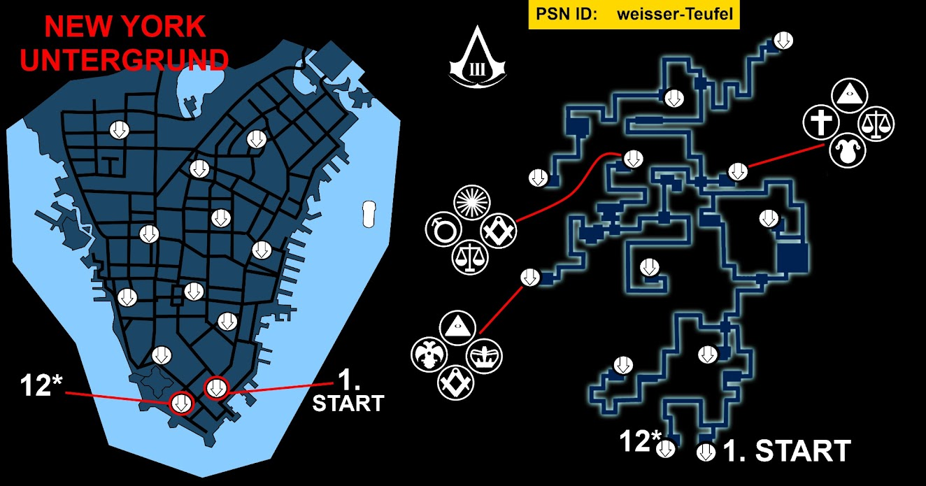 Map Of New York Underground Tunnels In Assassins Creed 3.Tag Assassins Creed 3 New York Underground Map Waldon Protese De
