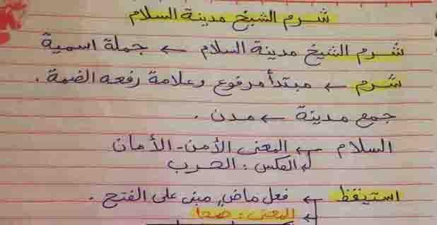 أسئلة درس شرم الشيخ مدينة السلام لغة عربيه للصف الرابع الابتدائي الترم الأول 2021