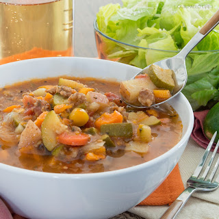 Crockpot Paleo Minestrone Soup