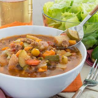 Crockpot Paleo Minestrone Soup.