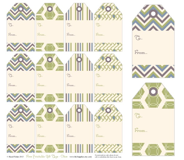 Hazel Fisher Creations: Free printable gift tags!