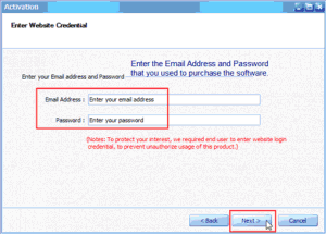Email and Password