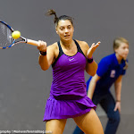 STUTTGART, GERMANY - APRIL 17 : Anna Konjuh in action at the 2016 Porsche Tennis Grand Prix