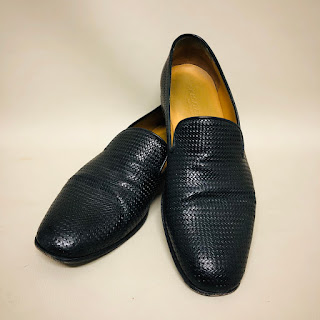 Giorgio Armani Woven Leather Loafers