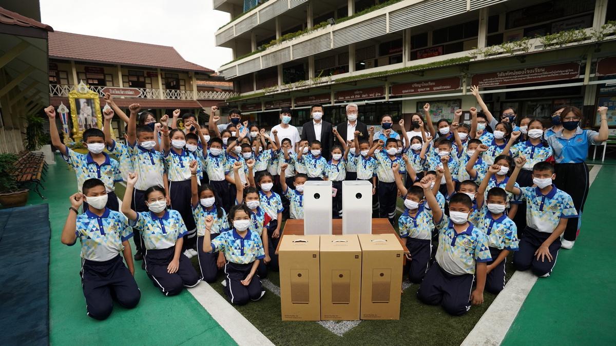 ปัญหาฝุ่น PM2.5 ภัยเงียบที่ไม่ควรมองข้าม Xiaomi ส่งตรงเครื่องฟอกอากาศ สร้างโซนอากาศบริสุทธิ์ในโรงเรียน
