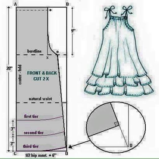 婦人服のパターン