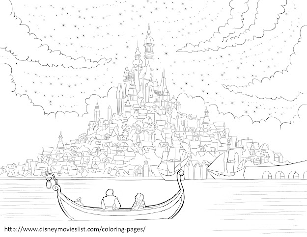 Disneys Tangledcorona Kingdom Coloring Page