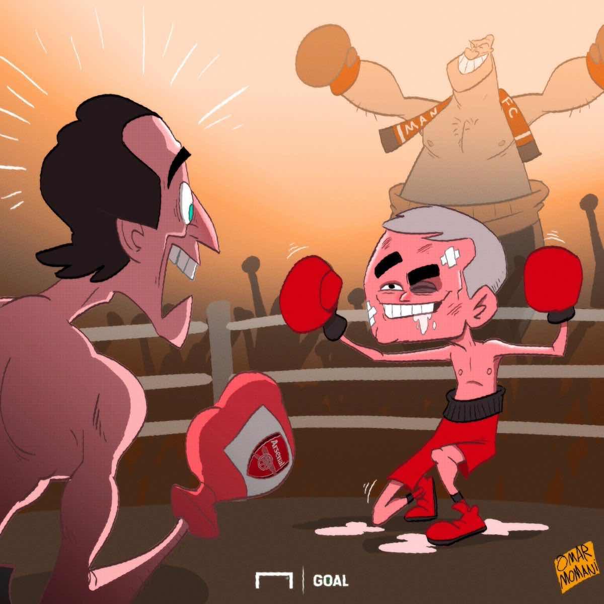 Cartoon of the day: Mourinho mimics Fury
