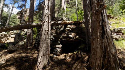 Casgile (?) sous la grotte-bergerie de la Cavichja