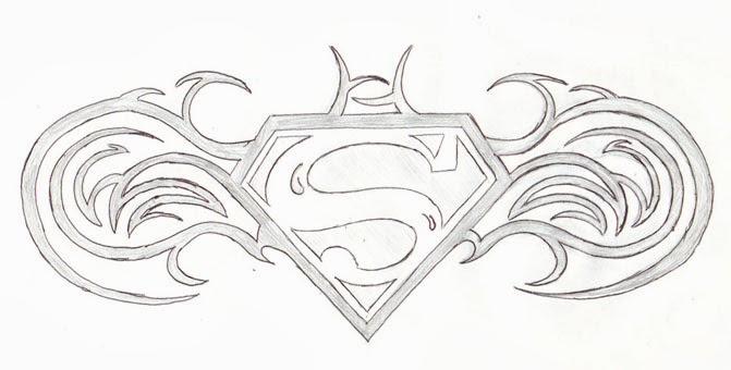 Superman Symbol Drawing Choice Image