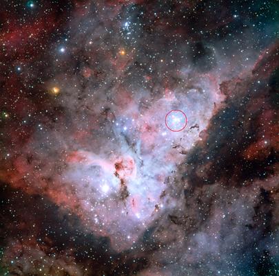 aglomerado estelar Trumpler 14 na Nebulosa Carina