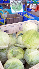 It's Kraut Time - giant cabbage at Portland Farmers Market at PSU, Autumn