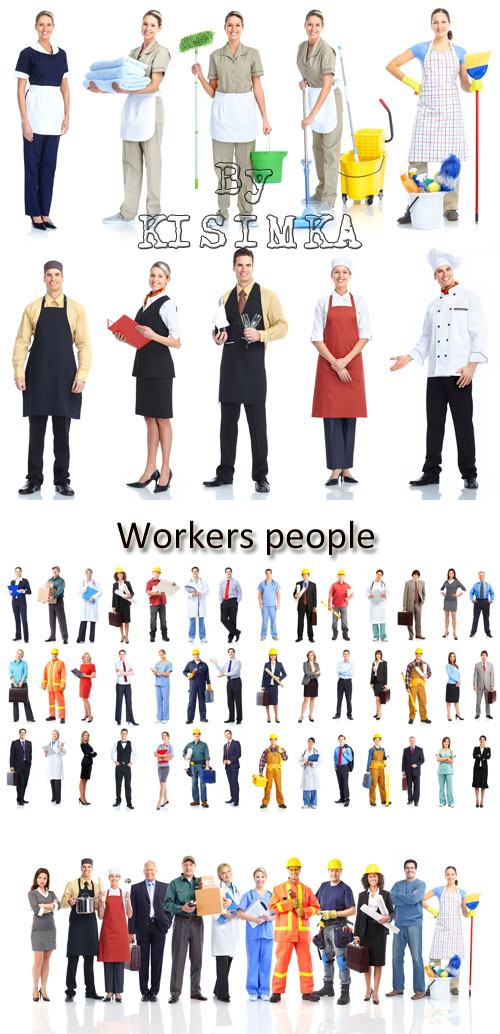 Stock Photo: Workers and service personnel