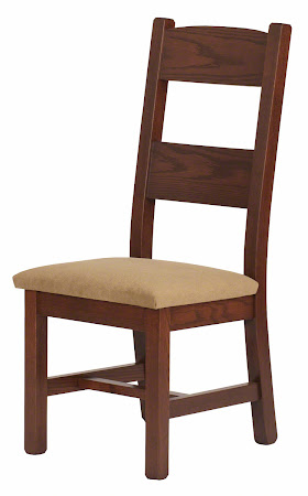 Geneva Chair with Rounded Fabric Seats in Rustic Oak