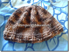 Crochê GORRO MARRON
