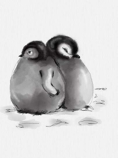 Fluffy Penguins made with Sketches
