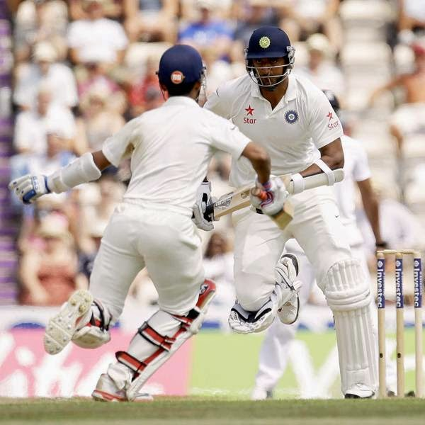 While England needed 25 balls to break through on the fourth morning, Anderson struck with his second ball of the day as he forced an outside edge from Rohit Sharma for 6.