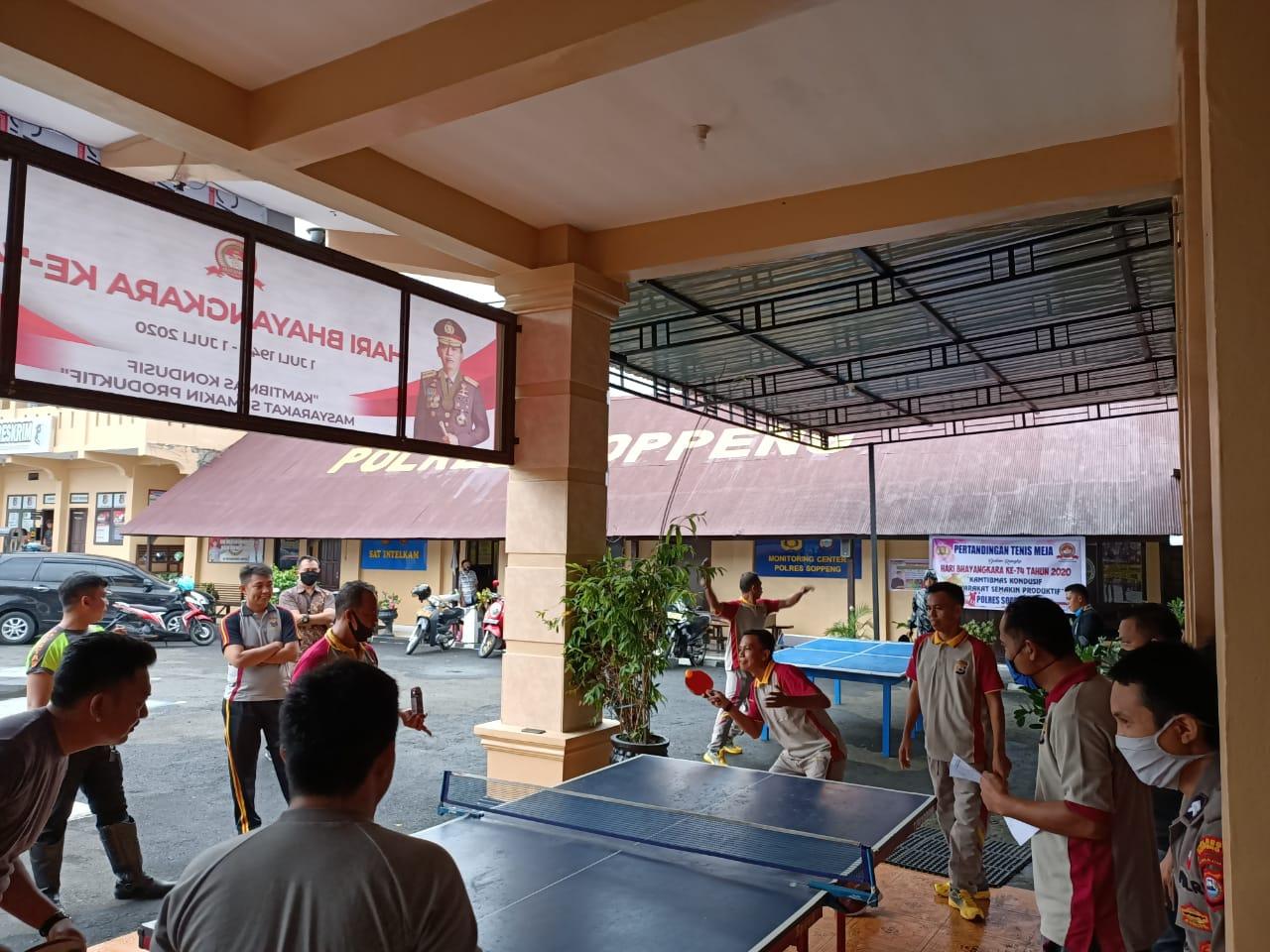 Polres Soppeng Gelar Lomba Seni dan Tennis Meja dalam Memeriahkan Hari Bhayangkara ke- 74