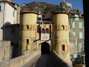 Photo: The entrance to the old village, across what was once a drawbridge.