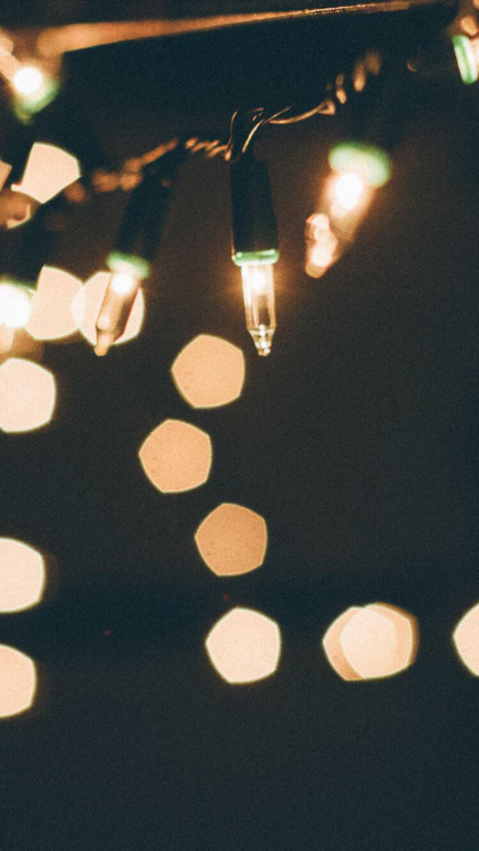 String Lights Wallpaper for iPhone