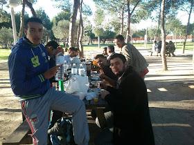 comida de hermandad Asamblea General y volutarios Centro Cultural Islámico de Valencia (CCIV). 3/02/2012