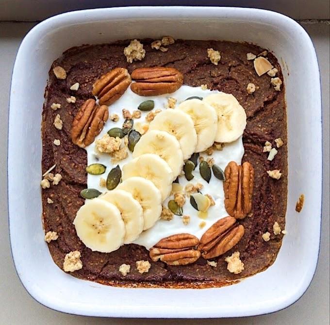 Coffee Cake Baked Oats Recipe | Breakfast Care