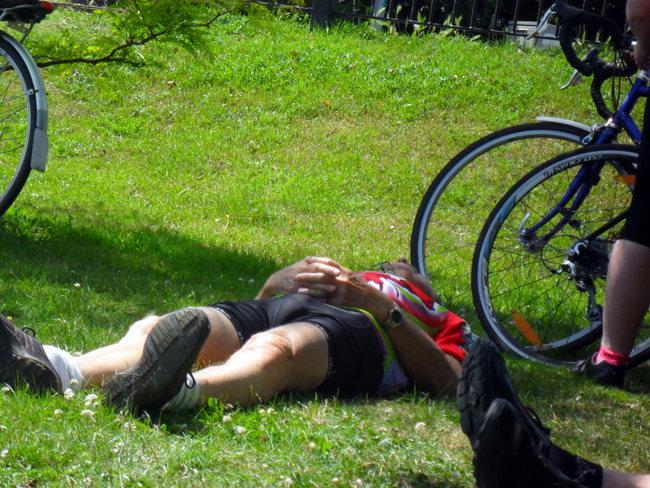 Prone cyclist