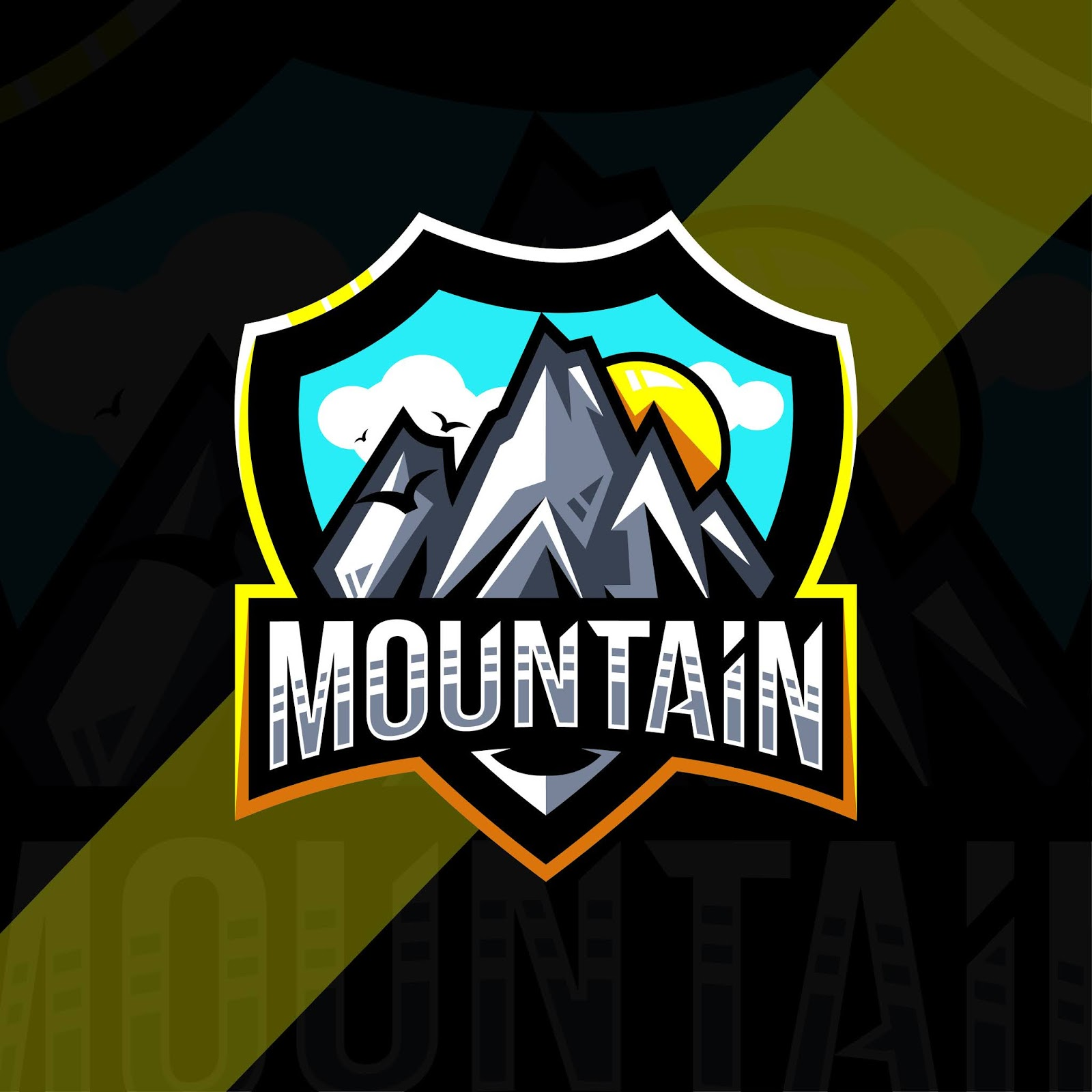 Mountain Mascot Logo Sport Design Free Download Vector CDR, AI, EPS and PNG Formats