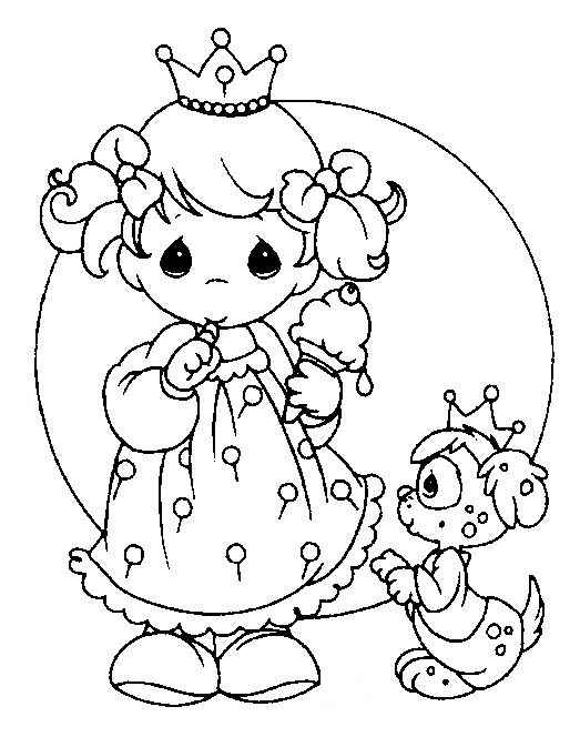 Baby princess free precious moments coloring pages for Precious moments coloring page