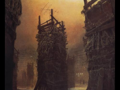 Zdzislaw Beksinski Tower Of Horror, Death