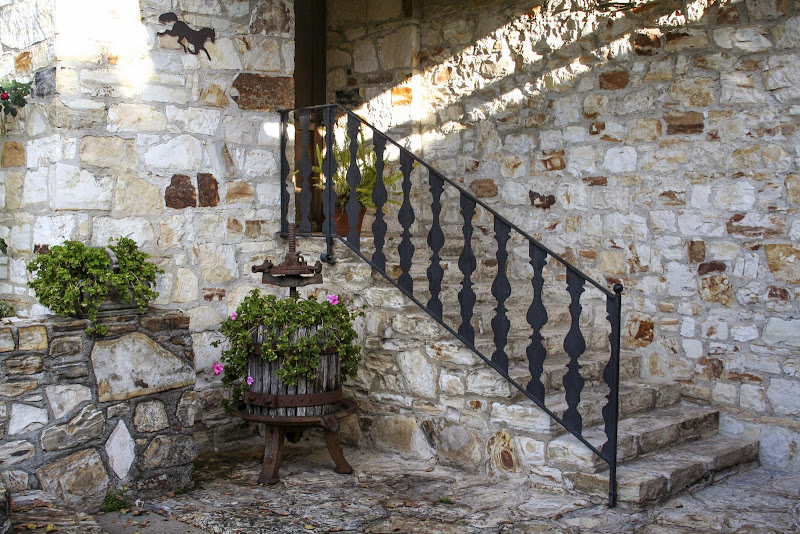 Stairs in the sun, Holman Ranch