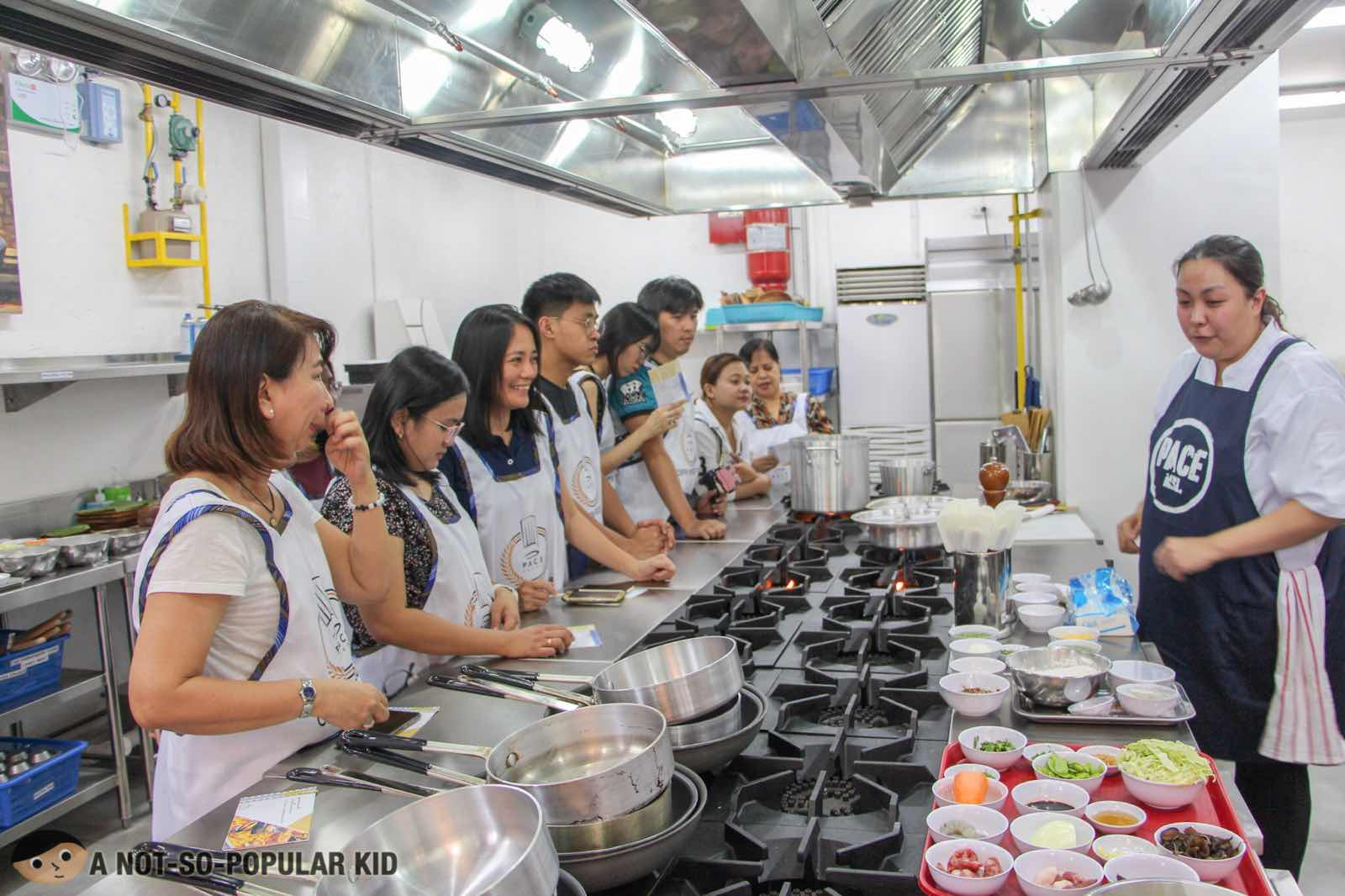 Students/participants in PACE's Group Culinary Activity
