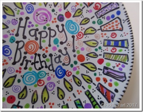 Sharpie Pen Birthday Plate 4