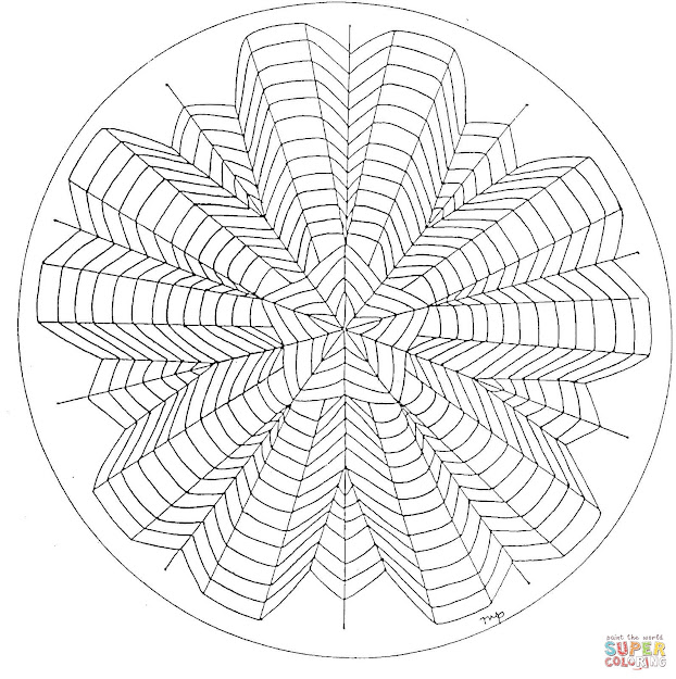 Click The  Point Star Mandala Coloring Pages