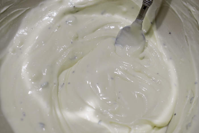 Goat cheese mixture for savory tart
