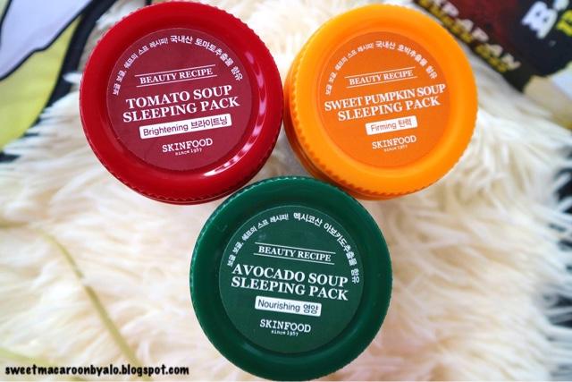 SKINFOOD Beauty Recipe Sleeping Pack (Avocado, Tomato, and Pumpkin)