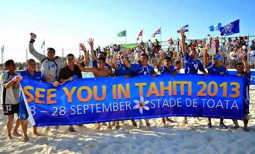 Selección de fútbol playa clasifica a Tahiti 2013