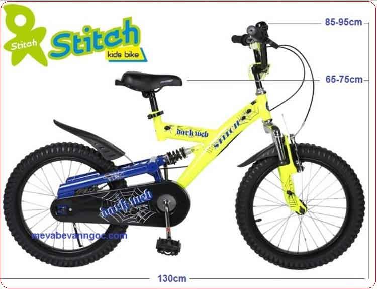 Xe đạp cho trẻ em Stitch JK 912 màu vàng,