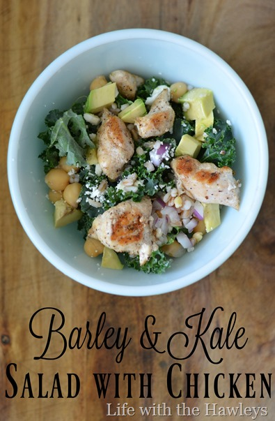Barley & Kale Salad with Chicken- Life with the Hawleys