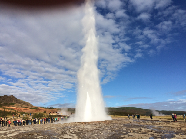 Geyser, in Iceland, does its thing about every 8-10 minutes while we were there