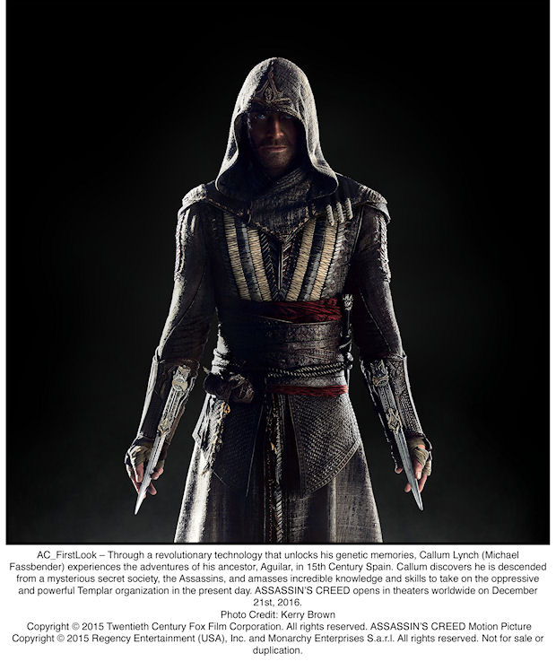 Michael Fassbender as Callum Lynch in ASSASSIN'S CREED.