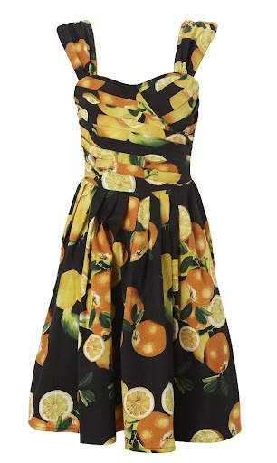 Retro Orange Print Dress by Primark
