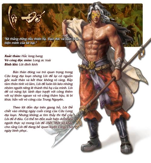Những nhân vật nổi bật trong Cửu Long Tranh Bá 2