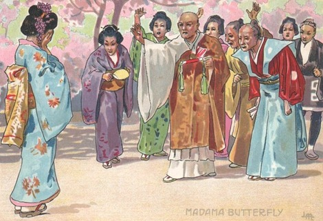 IN PERFORMANCE: Giacomo Puccini's MADAMA BUTTERFLY at North Carolina Opera, October/November 2015 [Illustration of Cio-Cio San's rejection by her relations by Leopoldo Metlicovitz (1868 - 1944), ©  by Casa Ricordi]
