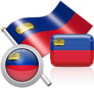 Liechtenstein flag icons pictures collection