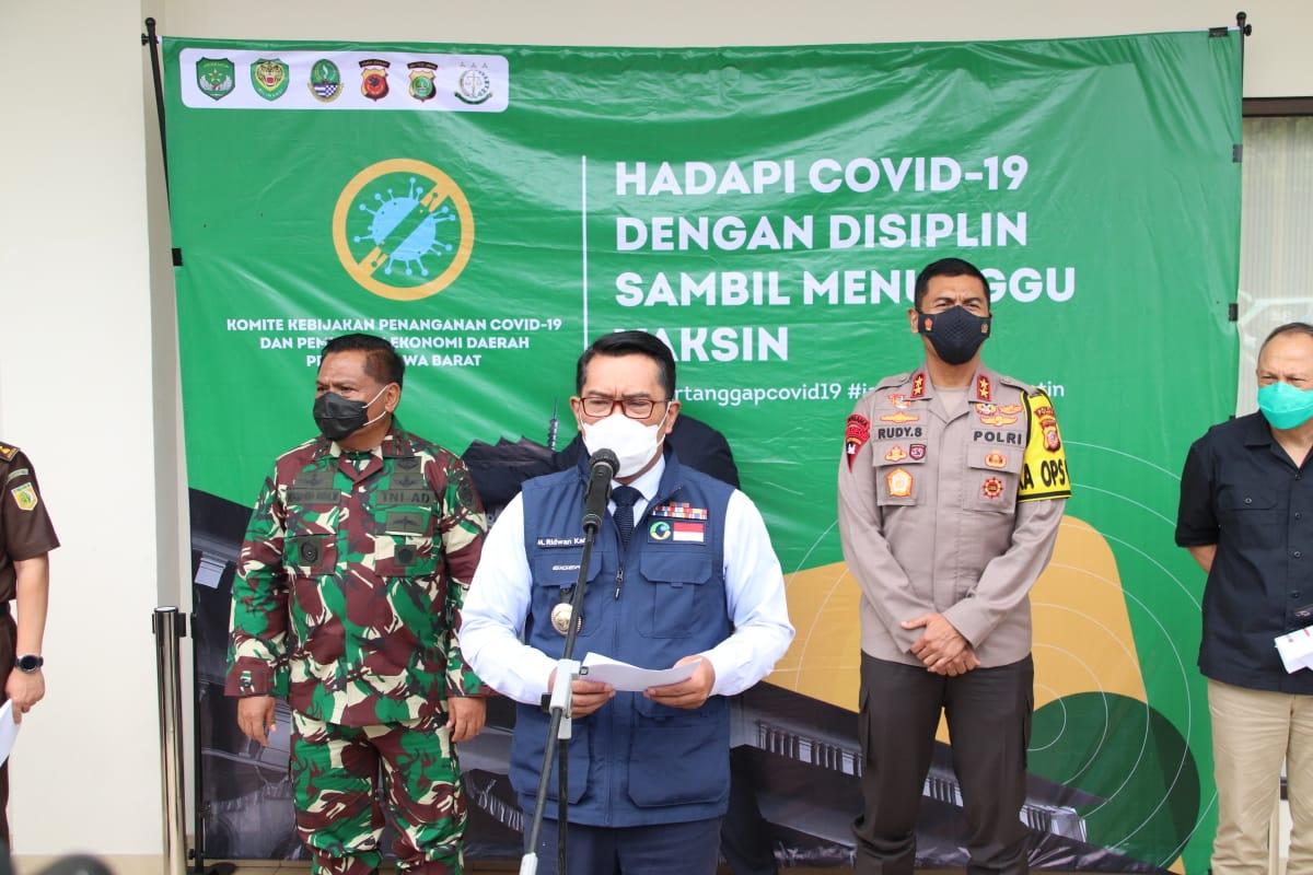 Gubernur Jabar, Kapolda Jabar dan Pangdam III/ Siliwangi Rapat Komite Kebijakan Pemulihan Ekonomi
