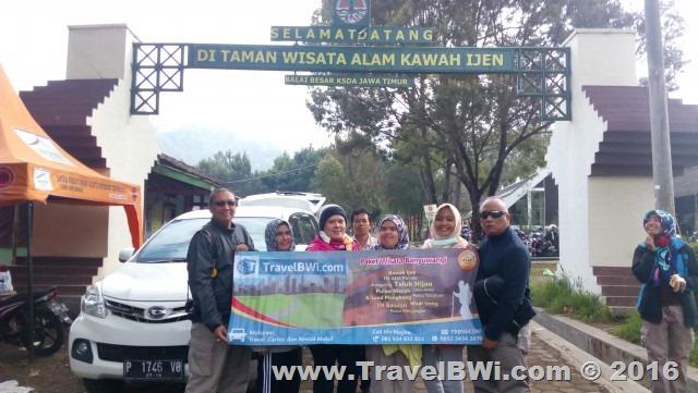 Paket Tour Wisata Travel BWi Banyuwangi - Gapura Kawah Ijen Pos Paltuding