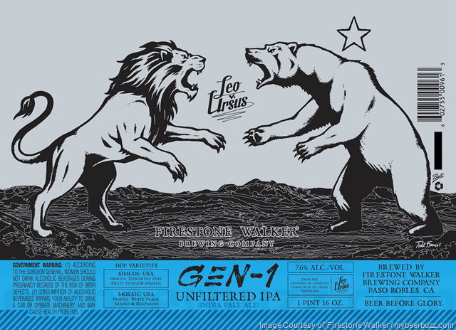 Firestone Walker Adding Leo v. Ursus Gen-1 Unfiltered IPA Cans