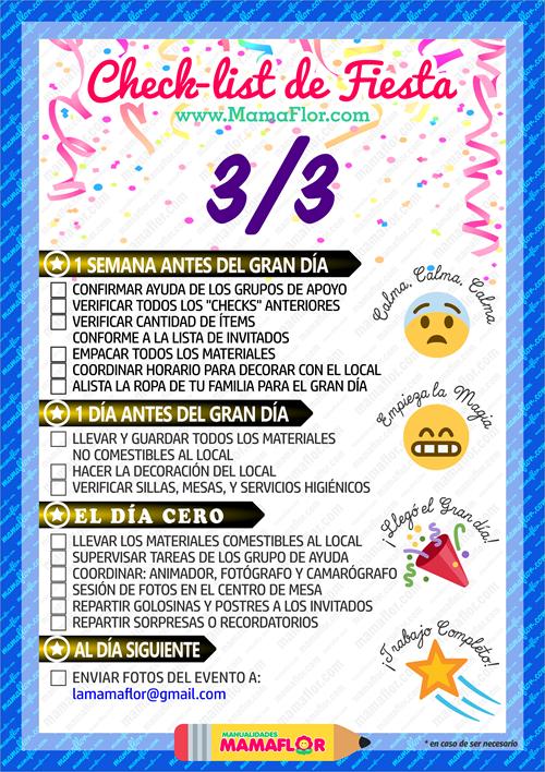 Checklist: Lista para Organizar Fiesta Cumpleaños - Hoja 3